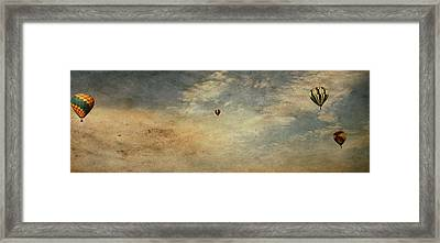 Vintage Hot Air Balloons Framed Print by Dan Sproul