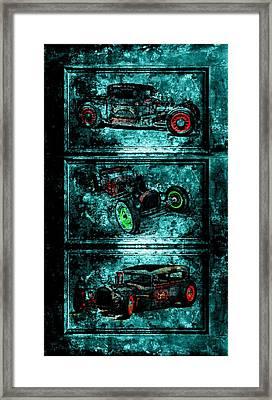 Vintage Hotrods Framed Print by Amanda Struz