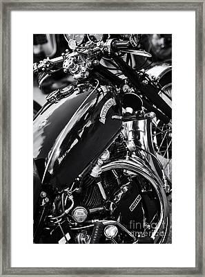 Vintage Hrd Vincent Series D Monochrome Framed Print by Tim Gainey