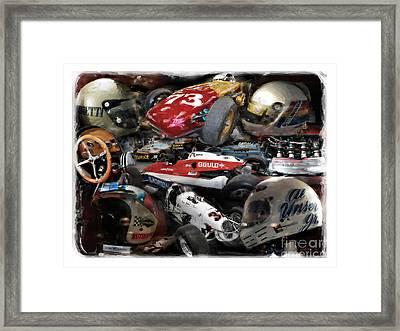 Vintage Indy Framed Print by Tom Griffithe
