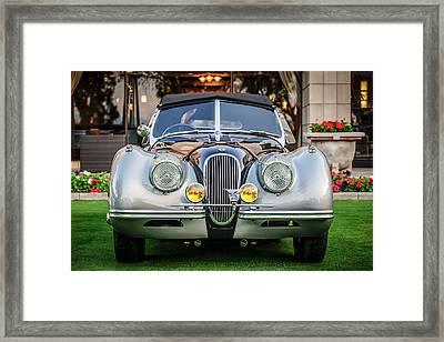 Vintage Jaguar -0924c Framed Print by Jill Reger