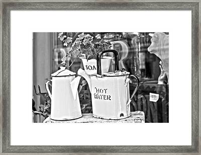 Vintage Jugs Framed Print by Georgia Fowler