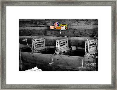 Vintage Laundry Framed Print by Deniece Platt