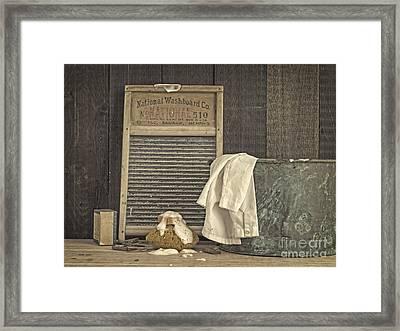 Vintage Laundry Room II By Edward M Fielding Framed Print by Edward Fielding