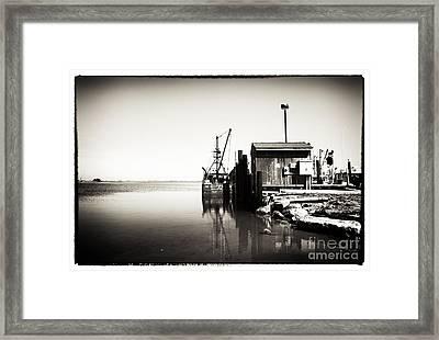 Vintage Lbi Bay Framed Print by John Rizzuto