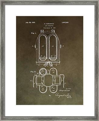 Vintage Life Preserver Patent Framed Print by Dan Sproul