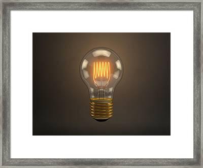 Vintage Light Bulb Framed Print by Scott Norris