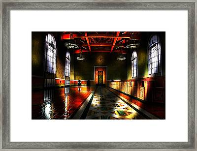 Vintage Light Framed Print by Cary Shapiro