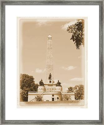 Vintage Lincoln's Tomb Framed Print by Luther   Fine Art