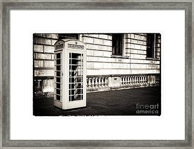 Vintage London Telephone Framed Print by John Rizzuto