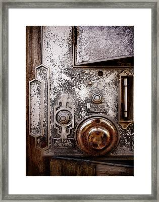 vintage-machinery photograph The Incubator Framed Print by Ann Powell