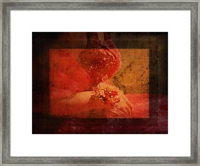 Vintage Memories Of First Love Framed Print by Georgiana Romanovna