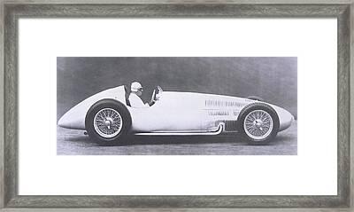 Vintage Mercedes Benz Grand Prix Racing Car Framed Print by German Photographer