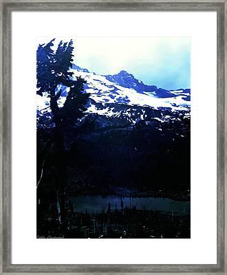 Vintage Mount Rainier With Reflexion Lake Early 1900 Era... Framed Print by Eddie Eastwood