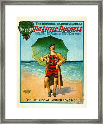 Vintage Musical Comedy Playbill 1906 Framed Print by Padre Art