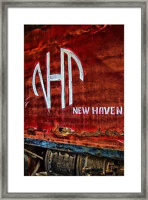 Vintage New Haven Train Framed Print by Karol Livote