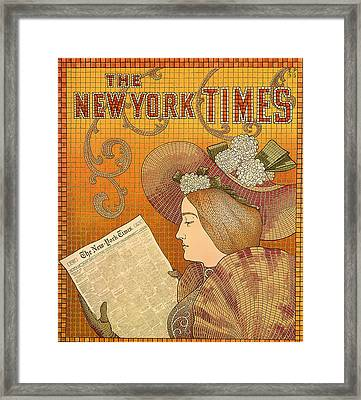 Vintage New York Times Advertisement 1895  Framed Print by Mountain Dreams
