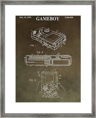 Vintage Nintendo Patent Framed Print by Dan Sproul