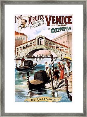 Vintage Nostalgic Poster - 8052 Framed Print by Wingsdomain Art and Photography