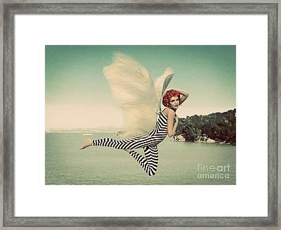 Vintage Ocean Fairy Framed Print by Methune Hively