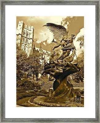 Vintage Of St. John The Divine Framed Print by Maritza Melendez