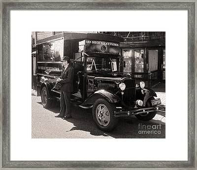 Vintage Paddy Wagon Framed Print by Gregory Dyer