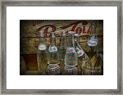 Vintage Pepsi Crate And Bottles Framed Print by Paul Ward