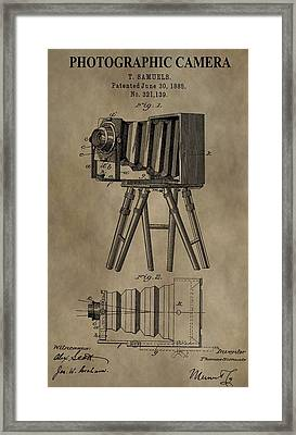 Vintage Photographic Camera Patent Framed Print by Dan Sproul