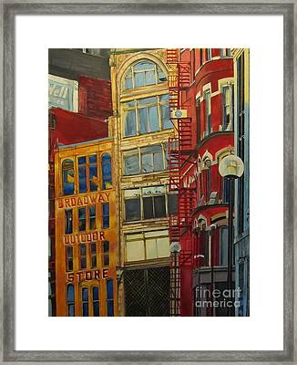 Vintage Pittsburgh Framed Print by Hannah Lane