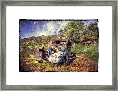 Vintage Plymouth Framed Print by Debra and Dave Vanderlaan
