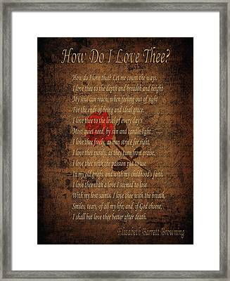 Vintage Poem 4 Framed Print by Andrew Fare