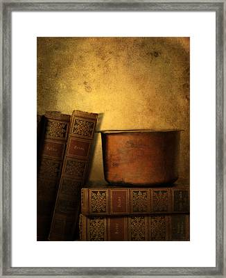 Vintage Poetry Framed Print by Jessica Jenney