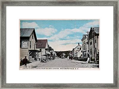 Vintage Postcard Of Wolfeboro New Hampshire Framed Print by Valerie Garner
