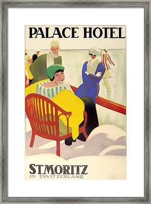 Vintage Poster 1936 Framed Print by Mountain Dreams