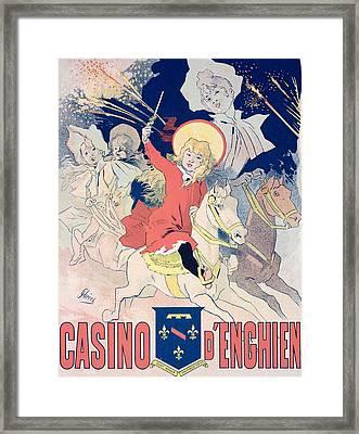 Vintage Poster  Casino Denghien Framed Print by Jules Cheret