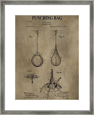 Vintage Punching Bag Patent Framed Print by Dan Sproul