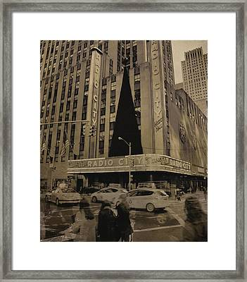 Vintage Radio City Music Hall Framed Print by Dan Sproul