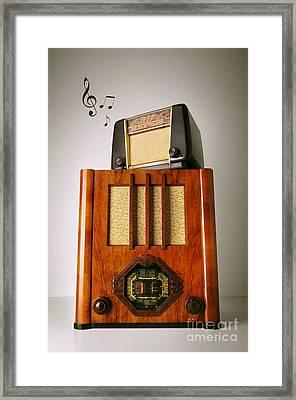 Vintage Radios Framed Print by Carlos Caetano