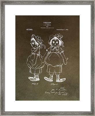 Vintage Raggedy Ann Patent Framed Print by Dan Sproul