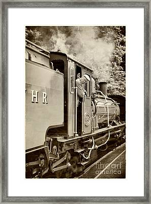 Vintage Railway Framed Print by Jane Rix
