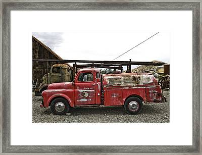 Vintage Red Chevrolet Truck Framed Print by Gianfranco Weiss