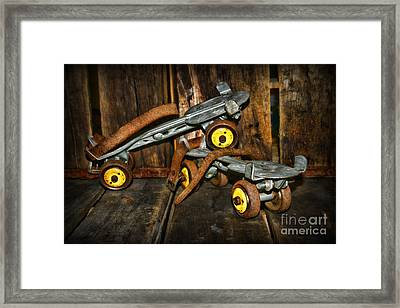 Vintage Roller Skates 1 Framed Print by Paul Ward
