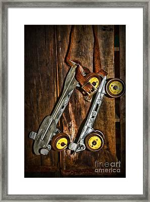 Vintage Roller Skates 5 Framed Print by Paul Ward
