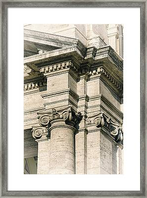 Vintage Rome Framed Print by Joan Carroll