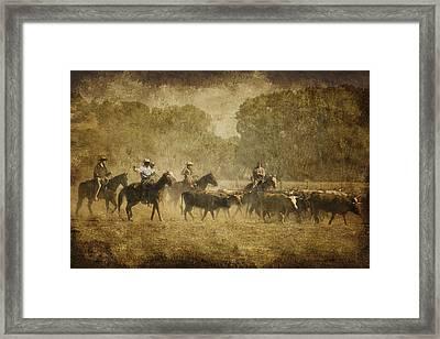 Vintage Roundup Framed Print by Priscilla Burgers
