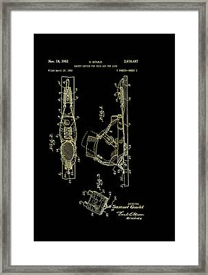 Vintage Safety Device For Skis Patent 1952 Framed Print by Mountain Dreams