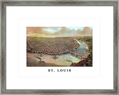Vintage Saint Louis Missouri Framed Print by War Is Hell Store