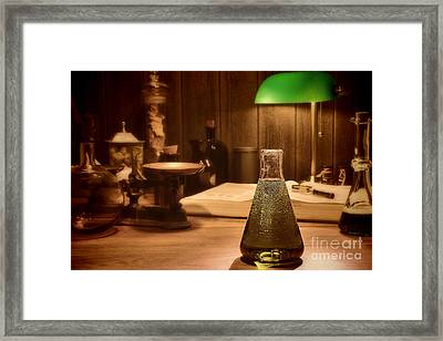 Vintage Science Laboratory Framed Print by Olivier Le Queinec