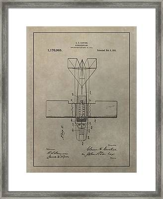 Vintage Seaplane Patent Framed Print by Dan Sproul