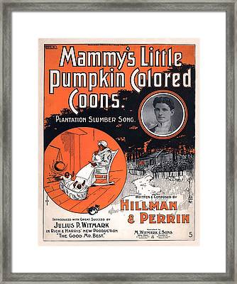 Vintage Sheet Music Cover Circa 1896 Framed Print by M Witmmark and Sons